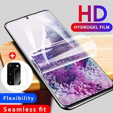 2 in 1 Hydrogel Soft Film for Samsung Galaxy A51 A71 S20 Plus S20 Ultra 5G screen protector camera lens Glass SM-A515F SM-A715F(China)