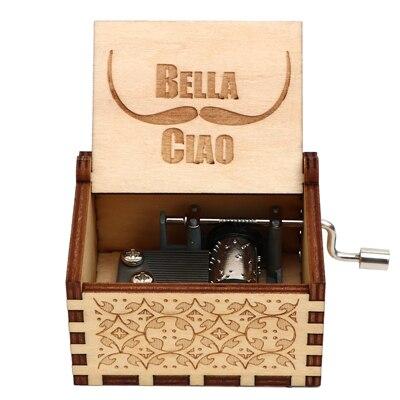 Гравировка ручной работы деревянная Настя музыкальная копилка подарок на день рождения на Рождество, дочь, подарки на день рождения для влюбленных - Цвет: BELLA CIAO 02