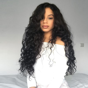 Brazilian Hair Water Natural Wave Lace Front Wig Human Hair Pre Plucked Bleached Knots Curly Wigs For Women DJSbeauty