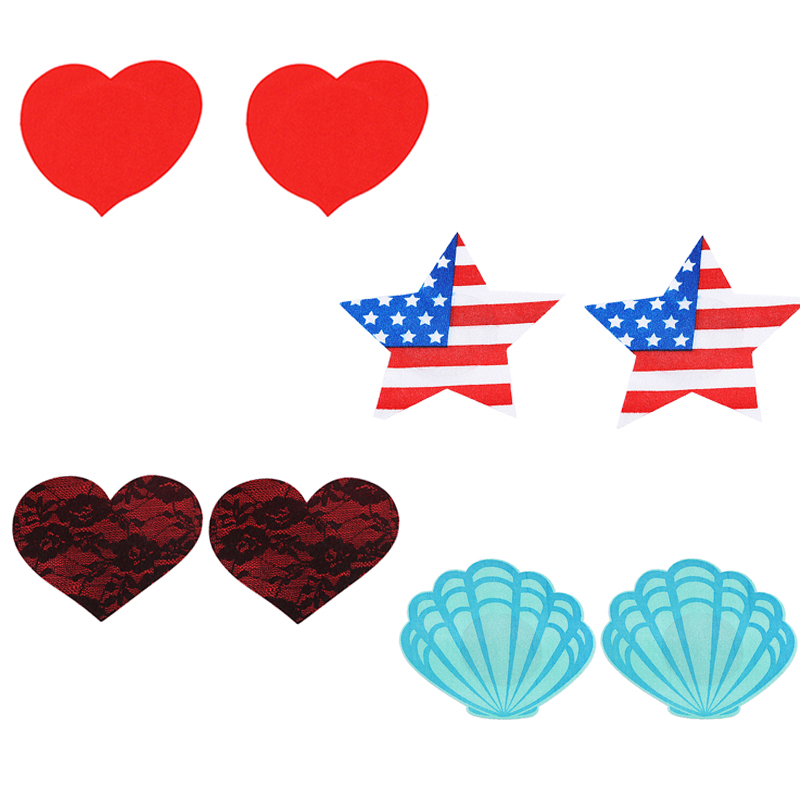 10 Pairs Self Adhesive Satin One-off Breast Petal Pasties Nipple Cover Bra Pad Patches Sticker