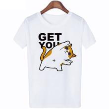 Cute Cat Women TShirt Harajuku Kawaii ulzzang t shirt korean style gothic Graphic top tee t-shirt female Streetwear T shirt