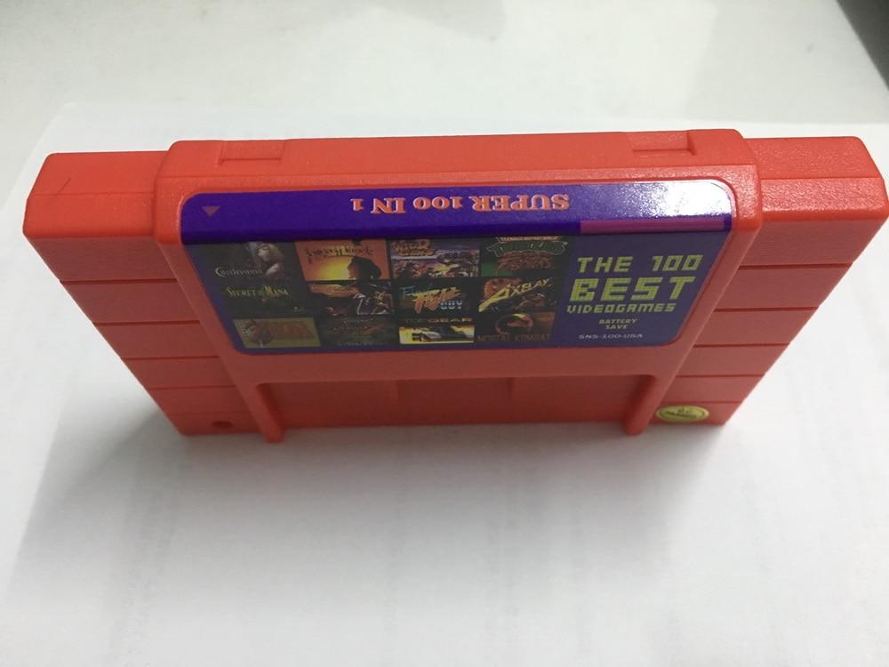 Super 100 in 1 Game Cartridge 16 Bit S N E S NTSC For Multicart USA