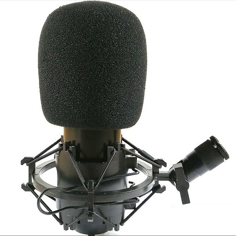 2pcs Microphone Foam Thicken Mic Cover Sponge Professional Studio WindScreen Protective Grill Shield Soft Microphone Cap