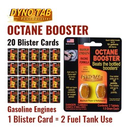 Dyno Tab Fuel Octane Booster Gasoline Petrol Of the Fuel Economy Carbon Cleaner (20 Blister Cards)
