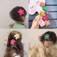 Детская заколка для волос для маленьких девочек BB заколка милого маленького цветка зажим, аксессуар для волос