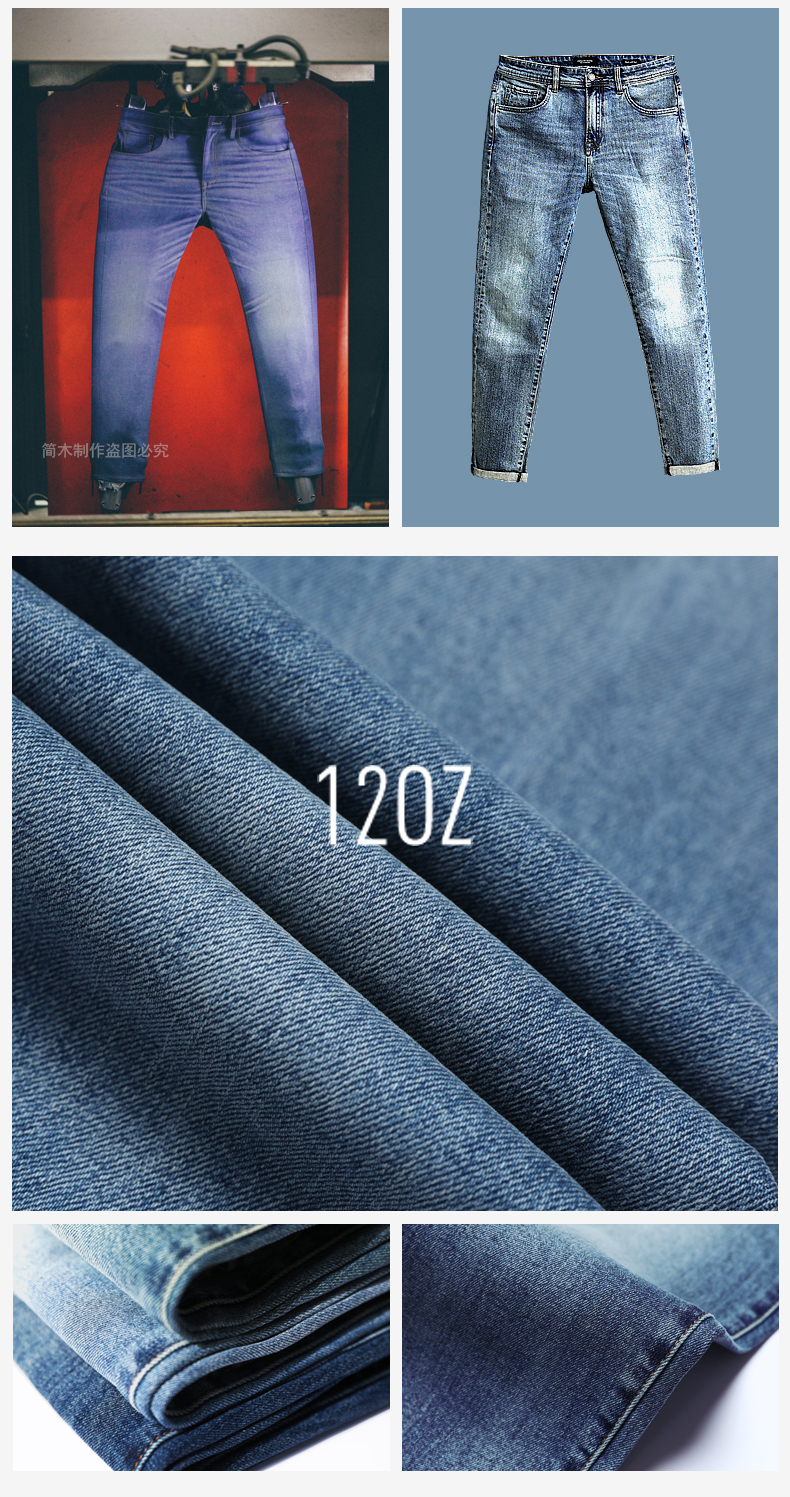 SIMWOOD 2020 New Jeans Men Classical Jean High Quality Straight Leg Male Casual Pants Plus Size Cotton Denim Trousers  180348 14