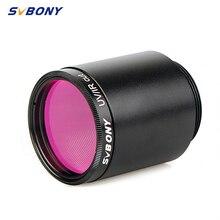 """SVBONY Filtro de corte UV / IR de 1,25 pulgadas, óptica de telescopio, filtro rojo, cámara CCD con montaje en C, adaptador de barril de cámara de vídeo de 1,25 """""""