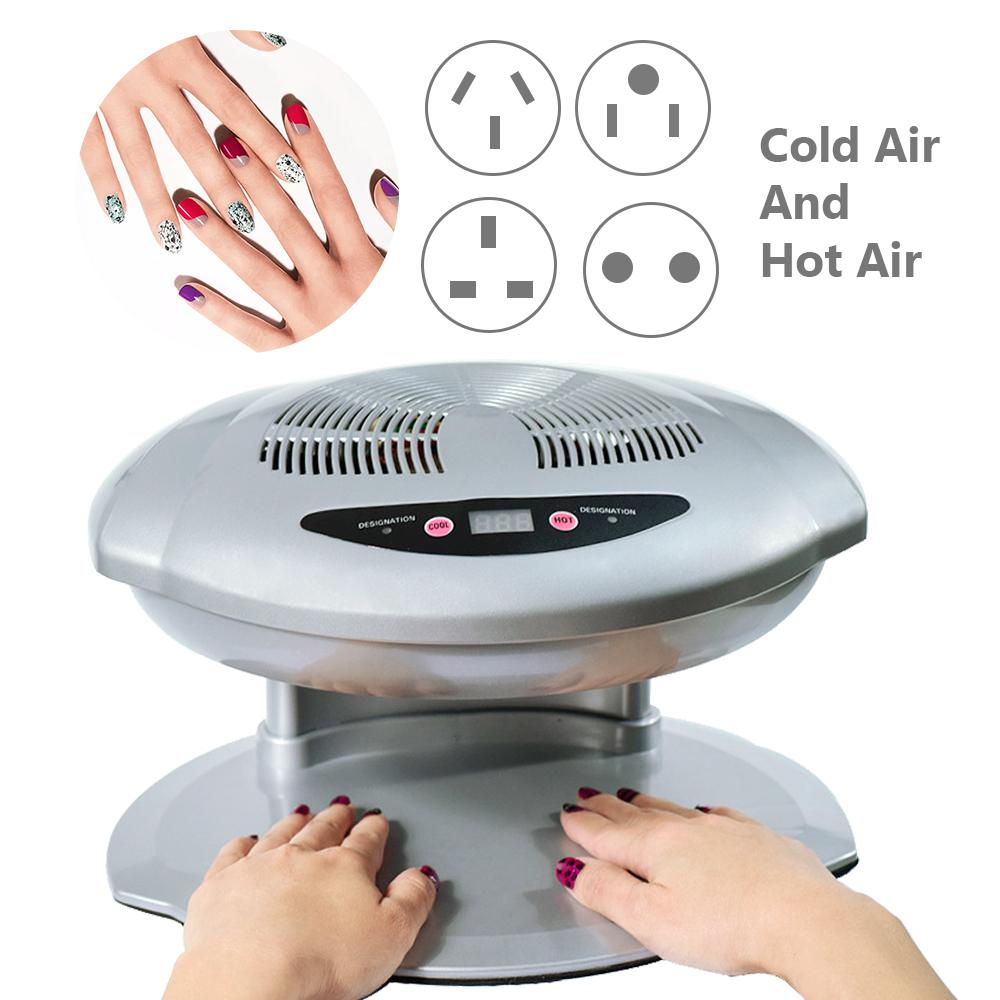 УФ светодиодный светильник для сушки ногтей теплый и холодный ветер авто индукционный датчик Сушилка для ногтей УФ Гель лак 220 В УФ лак для н