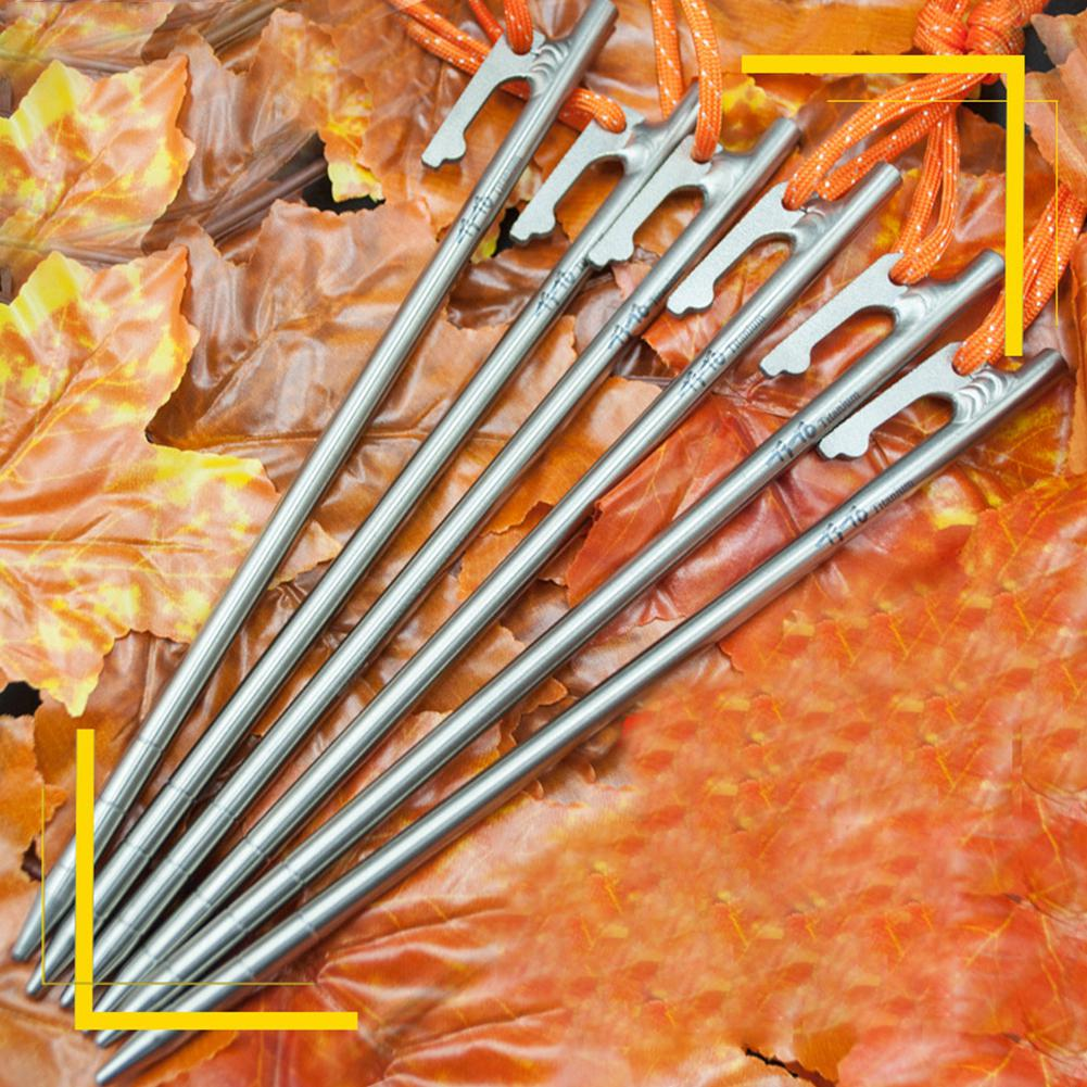 Wholesale 1pcs High Strength Titanium Alloy <font><b>Tent</b></font> <font><b>Pegs</b></font> for Camping Stakes for Rocky/Hard Places High-strength Alloy <font><b>Tent</b></font> Nail image