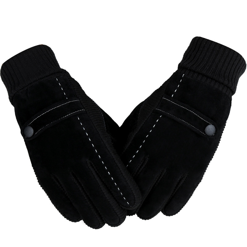 Men Women's Sports Winter Leather Lycra Heated Fever Snow Cake Cross Country Skiing Gloves Ski For Snowboard Accessories Gloves