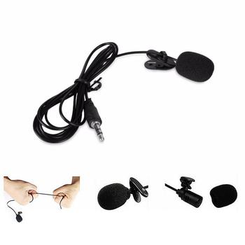 1pcs Microphone Clip-on Collar Tie Mobile Phone Lavalier Microphone Mic For Ios Android Cell Phone Laptop Tablet Recording 3 5mm wired lavalier microphone mic for ios android cell phone microfono para celular yaka mikrofonu clip on collar phone lapel