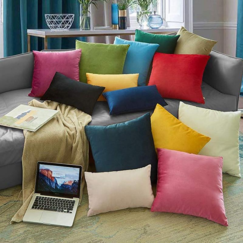 2020 Luxury 40x40cm Velvet Cushion Cover Decorative Pillows Throw Pillow Case Home Decor Pillowcase Backrest Sofa Seat Cushions