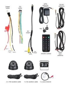 Image 4 - 3 шт., Автомобильный видеорегистратор, 4G, GPS, Wifi, 4 канала