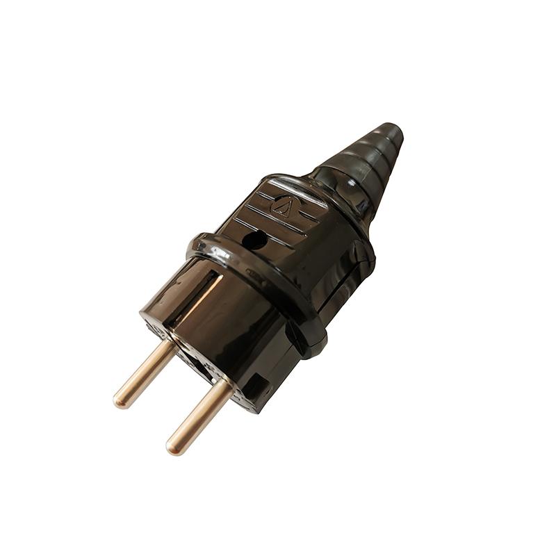 Hd7528b916f294759b7c5252ec19fcd98G - 1 Pcs EU European AC Power Connector Plug with Socket Power Cord Convertor 2.5A Electric Rewireable Plug Male Female Adapter