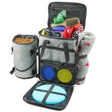 Pet Travel Bag For Dog Cat Week Away Tote Organizer Bag Dogs Travel Backpack Shoulder Bag Outdoor Hiking Travel Bowl For option