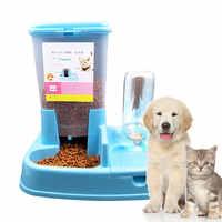 Chat fournitures mangeoire automatique chat bol Double bol automatique eau potable mangeoire automatique pour animaux de compagnie chien bol fournitures pour chiens