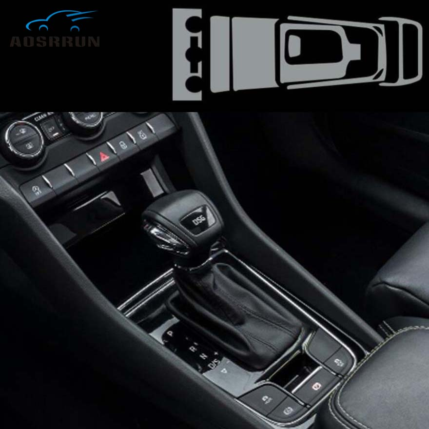 FOR Skoda Kodiaq 2018 2019 Central Control Panel Film TPU Transparent Protective Film Car Accessories