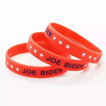 1pc Joe Biden Bracelet Make America Great Silicone Wristband Stars Red Rubber Women Men Fashion Jewelry Support Band Gift image
