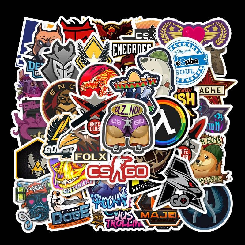 50 Pieces Of Anti Terrorist Elite CSGO Luggage Skateboard Guitar Waterproof Removable Graffiti Stickers