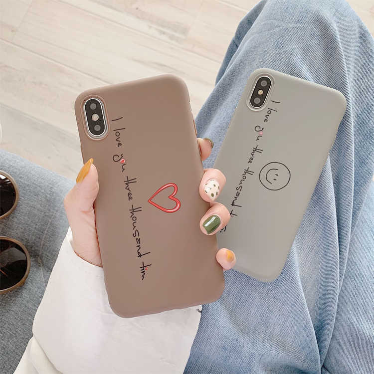 حافظة هاتف من البولي يوريثان لهاتف آيفون XR XS Max 7 8 6 6S Plus SE 2020 على شكل قلب غطاء شاي حليب كرتوني لهاتف آيفون 11 Pro Shell Fundas