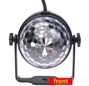 Image 5 - קול הופעל מסיבת אורות עם שלט רחוק Dj תאורה, RBG דיסקו כדור אור, strobe מנורת 7 מצבים שלב Par אור לבית