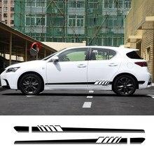 Autocollant latéral en vinyle, 2 pièces, pour Lexus RX 300 330 250 IS 300 GX 400 460 UX 200 NX LX LS GS ES CT200h Fsport, accessoire de réglage de voiture