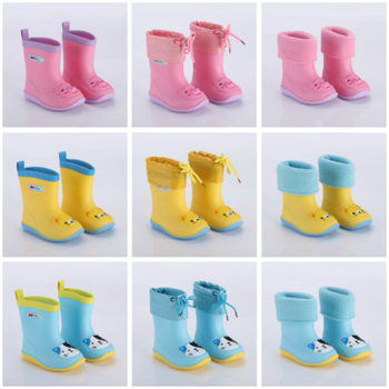 Kids Shoes RainBoots Classic Kids Shoes PVC Rubber Cartoon Shoes Water Shoes Waterproof Rain Boots for Children Euro Size 24~31