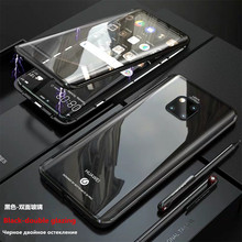Case for redmi note 8 7 Magnetic Adsorption Metal 7/8 pro k20 xiaomi 9 cc9 cc9e Double sided glass
