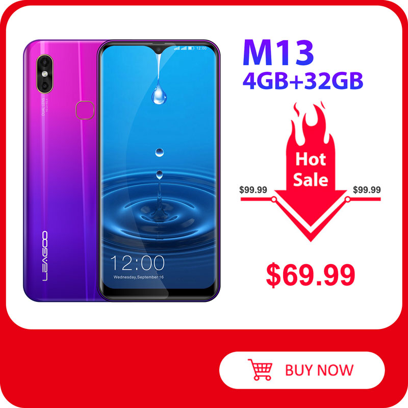 LEAGOO M13 Android Smartphone 32GB 4GB Quick Charge 4.0 Fingerprint Recognition 8mp New