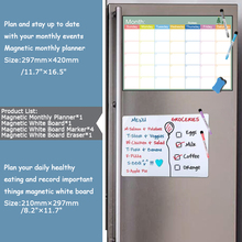 A4+A3 Size Flexible Magnetic Monthly planner dry erase Whiteboard fridge magnet Message Reminder Practice Writing White board
