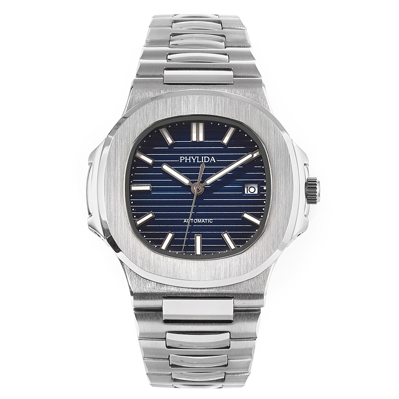 40mm Blue Dial Men's PP Nautilu Homage Watch Luxury Classic Sports Wristwatch Automatic Date Sapphire Crystal Phylida