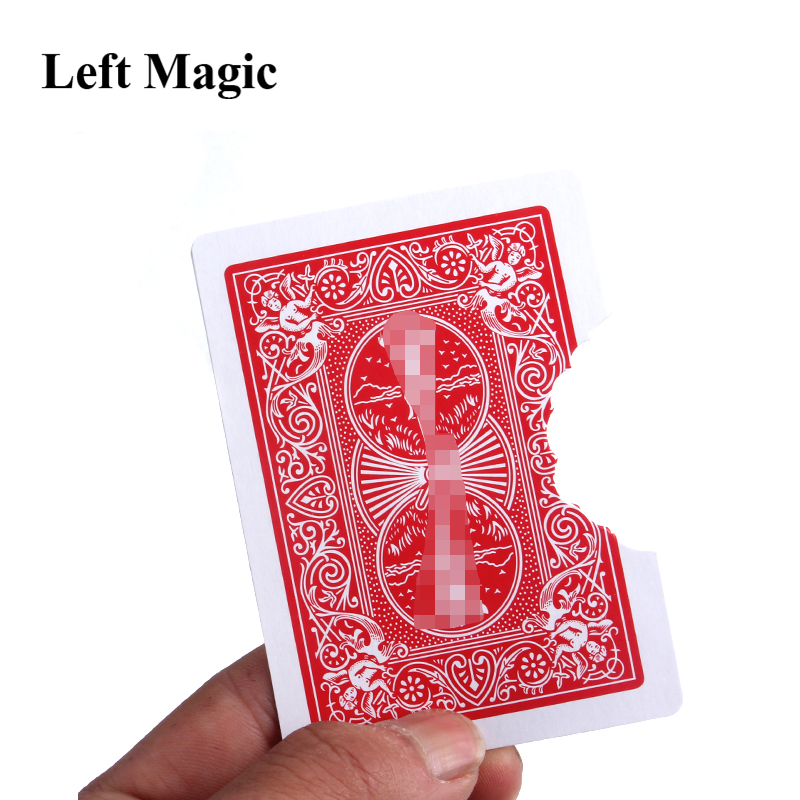 1 Set Hot Sellling Professional Bite Out Card Magic Tricks Card Magic Illusions Card Tricks Stage Magic Mental
