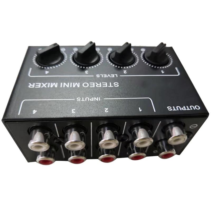 Image 2 - Cx400 Mini Stereo Rca 4 Channel Passive Mixer Small Mixer Mixer Stereo Dispenser for Live and StudioDAC   -