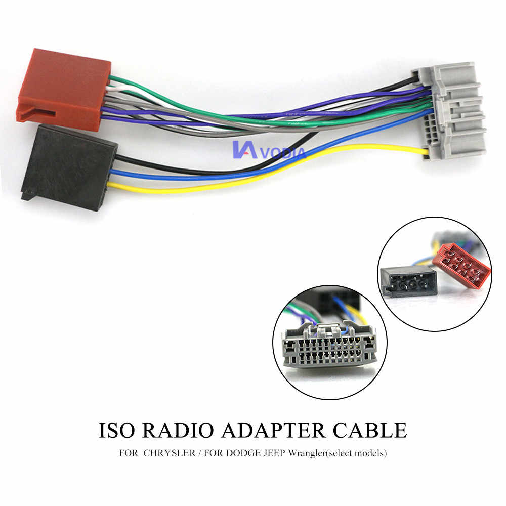 Chrysler Dodge Jeep Car Stereo Cd Player Wiring Harness Wire Adapter Plug For Aftermarket Radio from ae01.alicdn.com