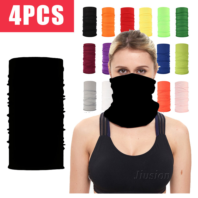 4PCS Bandana Face Mask Headband Scarves Outdoor Sports Cycling Headwear Anti Virus UV Neck Cover Tube Ring Seamless Magic Scarf