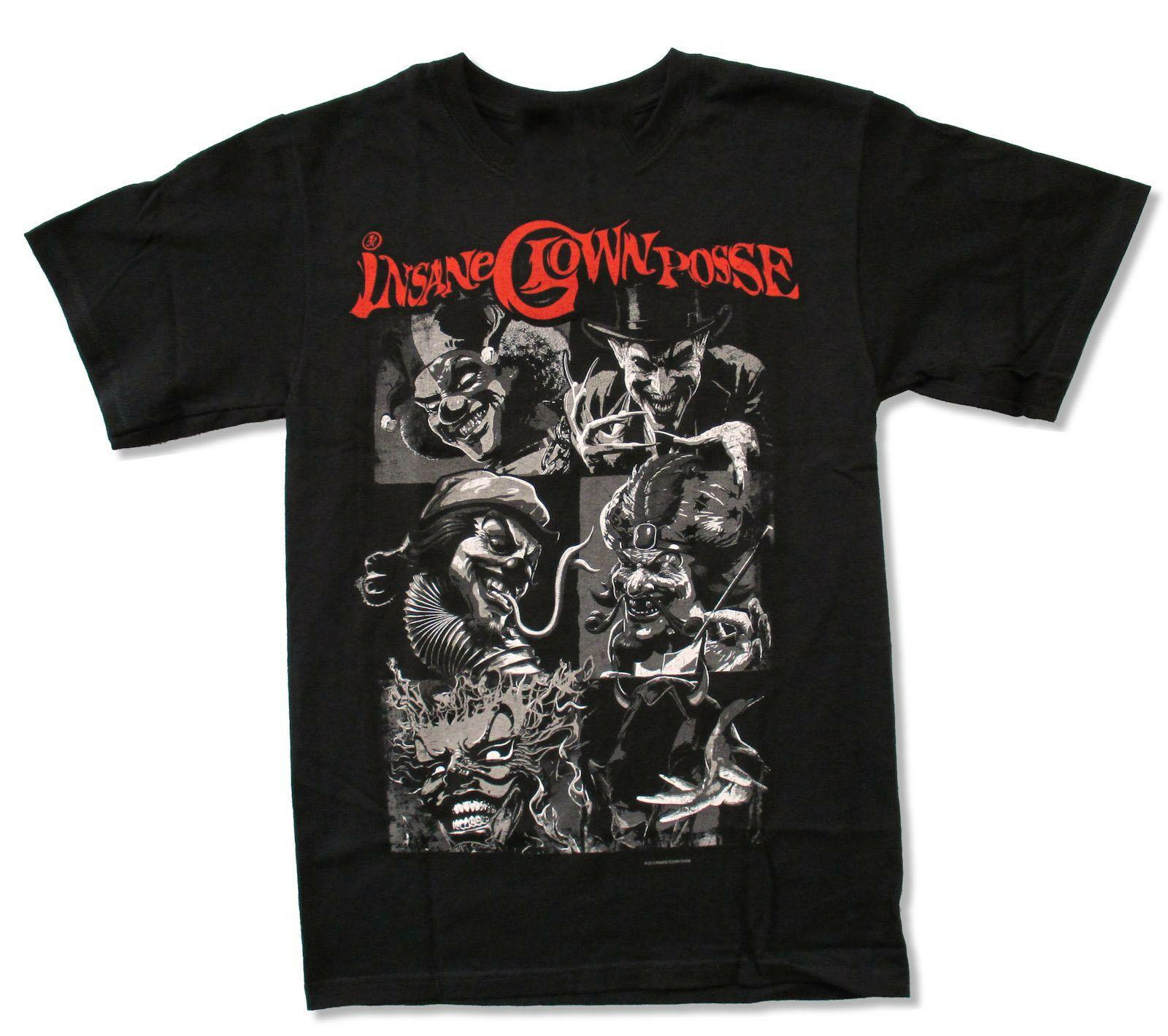 Insane Clown Posse Blocks Black T Shirt New Icp Homme Plus Size Tee Shirt