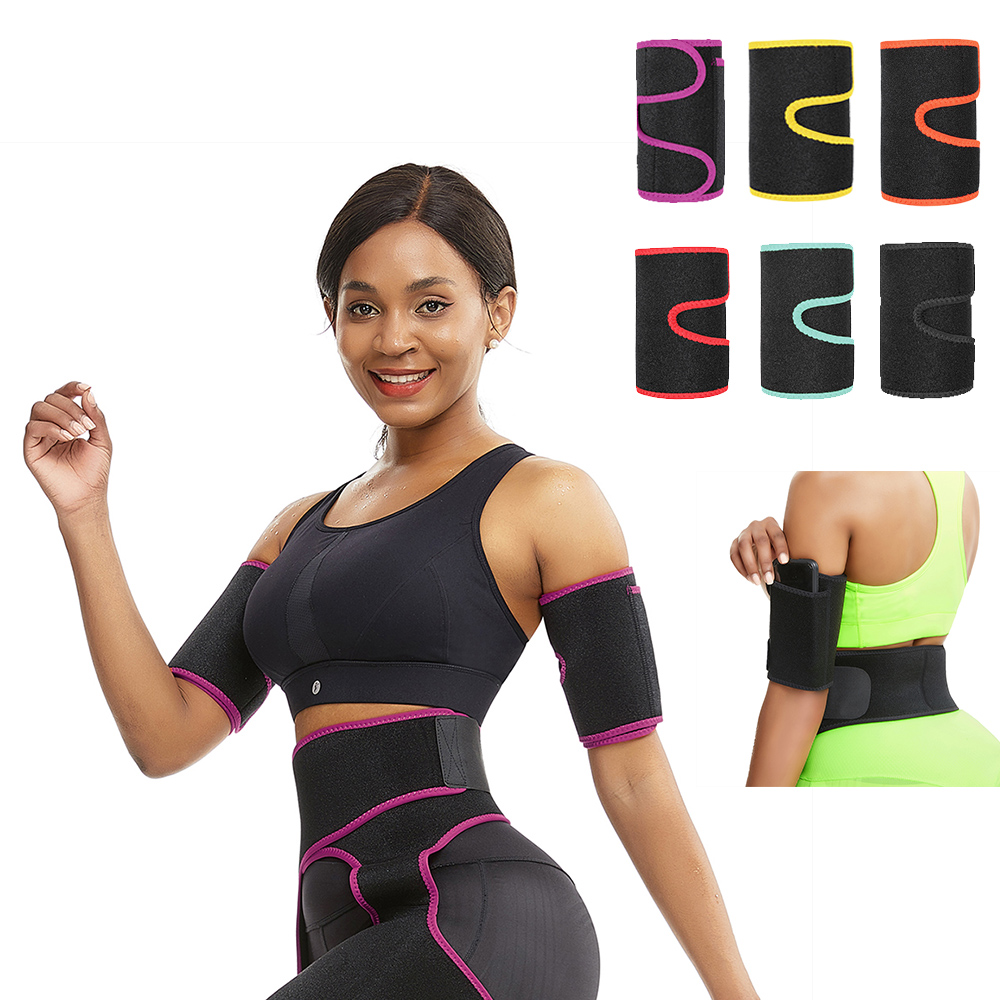 Neoprene Arm Sleeves Arm Warmers Sauna Sweat Sports Fitness 1 Pair New Women Arm Control Shapers Sleeve Slimmer Slimming Trimmer