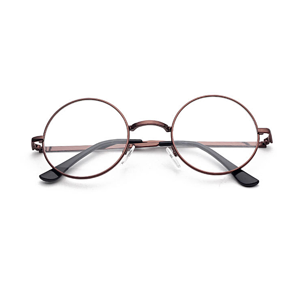 UV400 Plain Glasses Harajuku Women Men Vintage Round Metal Clear  Glasses Frame Anti-radiation Optical Glasses Frame