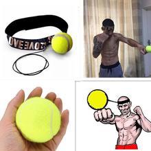 Бои эластичный мяч с головным браслетом для тренировки скорости реакции бокса удар упражнения