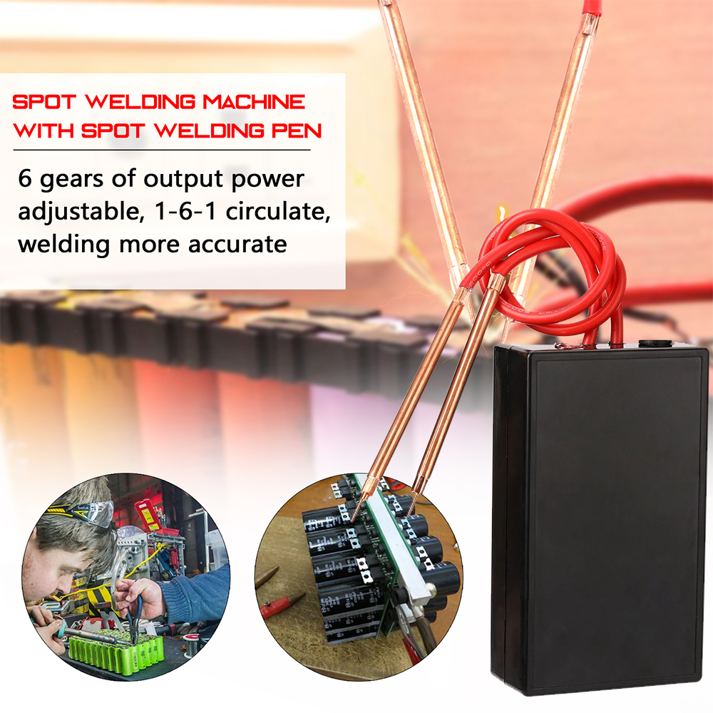 For Welder           Por          Soldador    Spot          Machine                Portable    Adjustable         18650 Gears   6       Tool       Spot Kit     Mini  Battery   Welding