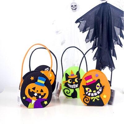 1pcs/lot  Halloween Childrens Trick or Treat Sugar Shopping Basket Favorite Candy
