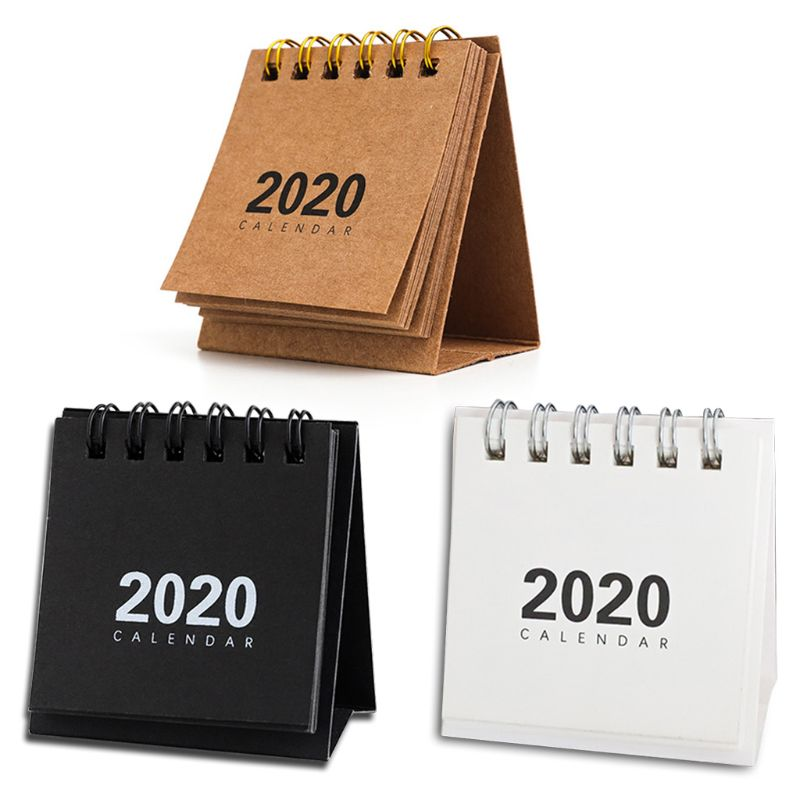 2020 New Year Mini Table Calendar Creative Simple Desk Coil Notepad Calendar L29k