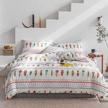 Chic Bohemian Feather Duvet Cover set Queen King Twin Size 4Pcs 100%Cotton Luxury Soft Bedding Sets Bed Sheet set Pillow shams