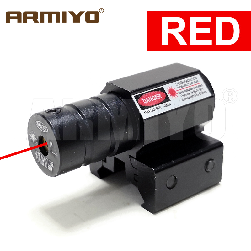 Armiyo Tactical 635-655nm Gun Red Dot Laser 50-100m Range Point Sight Adjustable Remote Switch 11mm & 20mm Rail Hunting