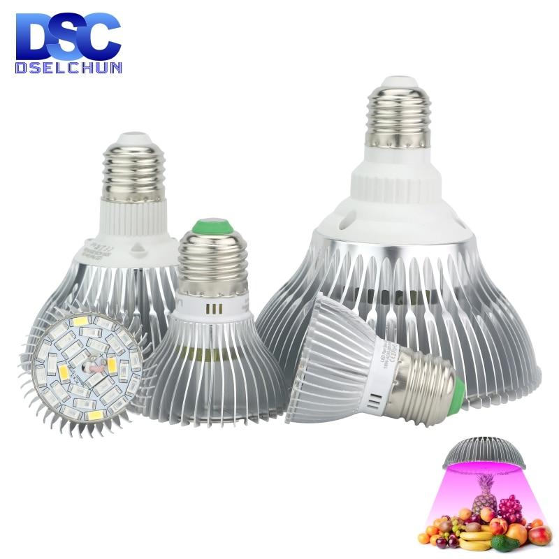 LED Grow Light E27 Full Spectrum 18W 28W 30W 50W 80W For Hydroponics Plant Light AC85-265V 110V 220V Led Grow Lamp