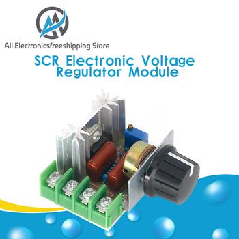 AC 220V 2000W SCR Regulator napięcia ściemniacze ściemniacze Regulator prędkości silnika termostat elektroniczny Regulator napięcia moduł tanie i dobre opinie Silnik prądu stałego NONE CN (pochodzenie) AC 220V 2000W SCR Voltage Regulator Dimming Dimmers Speed Controller T 58 x 53 x 29 mm