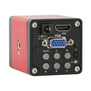 14MP 1080P HDMI VGA лабораторный промышленный видео микроскоп камера + 100X 200X 180X C крепление объектива + 56 Led Кольцевой светильник для телефона PCB припо...
