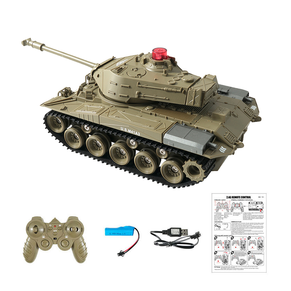 Q85 RC Tank Model, 2.4G Remote Control Programmable Crawler Tank, Sound Effects Military Tank 1/30 RC Car Toy For Boys