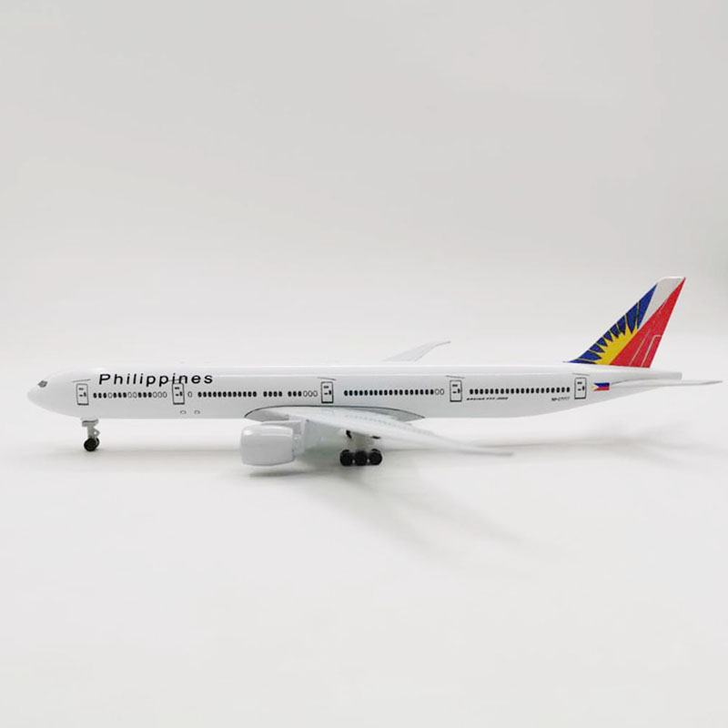 20CM 1:300 Scale Philippine Airlines Boeing 777 B777 Airplanes Plane Aircraft Diecast Alloy Model Toy Collective Kids Toys image