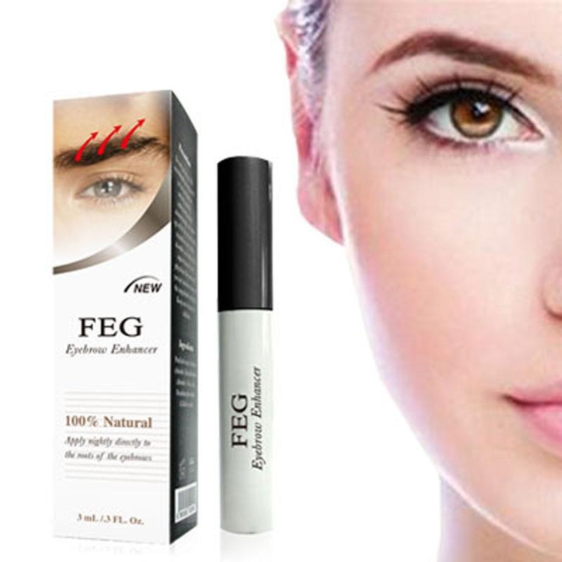 FEG Eyebrow Growth Serum For Waterproof Grow 7 Days Natural Herbs Eye Brows Growth Liquid 100% Original Brand Makeup Maquiagem